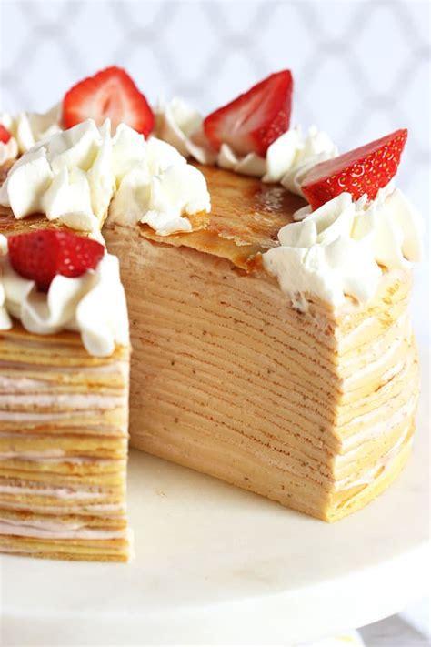 strawberry cream crepe cake  suburban soapbox