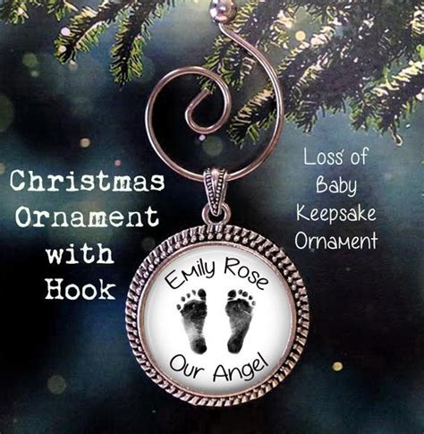 baby loss and christmas baby footprint ornament loss of baby ornament