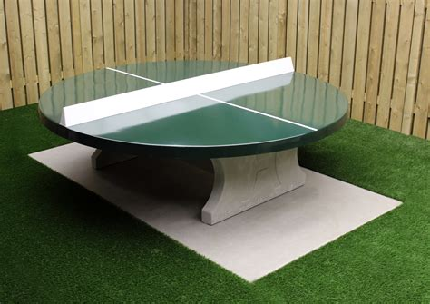 ping pong table surface ping pong table round with green playing surface heblad
