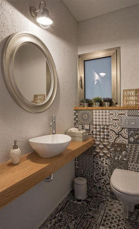 kleines gäste wc gestalten einf 252 hren g 228 stetoilette gestalten g 228 ste wc muster bodenfliesen holz waschtisch wikhouse