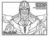 Thanos Coloring Pages Marvel Drawing Infinity Draw Too Easy Gauntlet Printable Cinematic Universe Sketch Editor sketch template