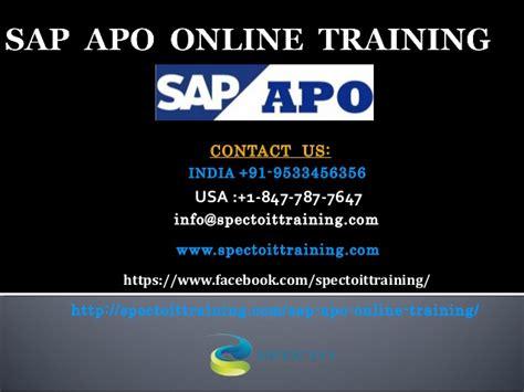 Sap Apo Online Training In Australia
