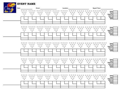 Bowling Recap Sheet Template  Aiyin Template Source