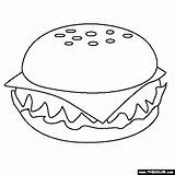 Coloring Cheeseburger Pages Fast Buns Template Thecolor sketch template
