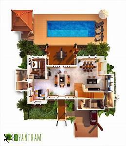 3d Floor Plan Residential Design Concept From 3d Yantram