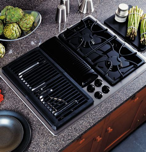 ge profile built  downdraft gas modular cooktop jgpsefss ge appliances
