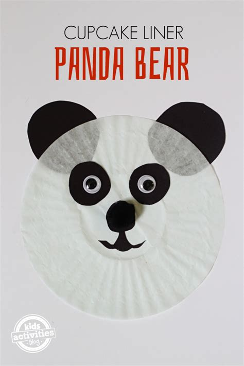 panda crafts for preschoolers panda cupcake liner craft cupcakes cupcake 496