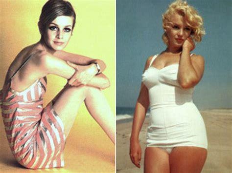evolution  beauty twiggy  marilyn monroe