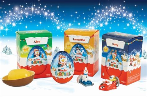 pw personalizes ferrero kinder christmas packaging
