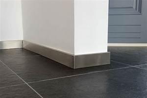 Hauteur Plinthe Carrelage : plinthe inox de 1mm d 39 paisseur doublage en bois contreplaqu de 1 mm avec bord en retour ~ Farleysfitness.com Idées de Décoration