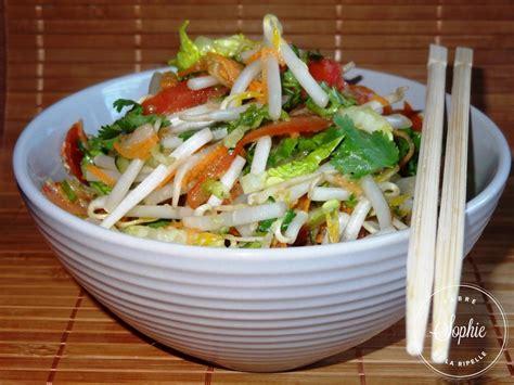 cuisiner pousse de soja salade chinoise la tendresse en cuisine