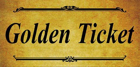Blank Golden Ticket Template by Find A Golden Ticket