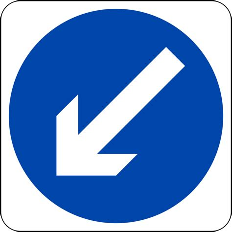Sign In by File Singapore Road Sign Mandatory Keep Left Svg