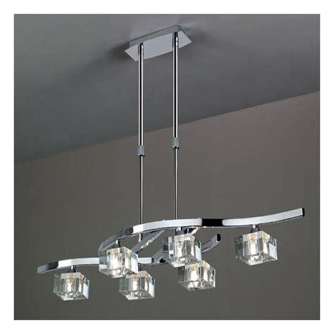 castorama luminaire cuisine lustre design réglable cubic 6 les millumine