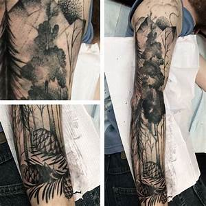 75 Tree Sleeve Tattoo Designs For Men - Ink Ideas With ...