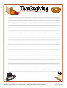 thanksgiving printable lined writing paper
