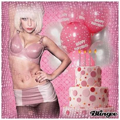 Birthday Lady Happy Gaga Blingee John Editor