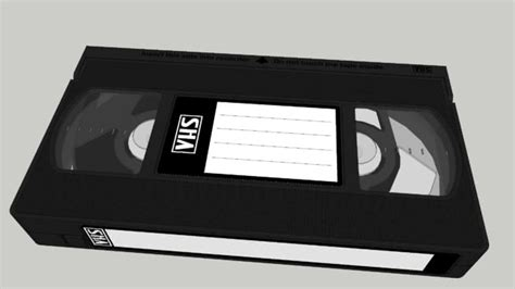 Cassetta Vhs by Vhs Cassette 3d Warehouse