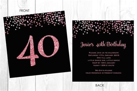 Buy Personalised 40th Birthday Invitations Iphone 7 Case With Business Card Holder Phone Icon Free Vector Clear Plastic Sheets Gift Closed Leather Business/credit Black Red Elegant Inspiration Buy For Desk