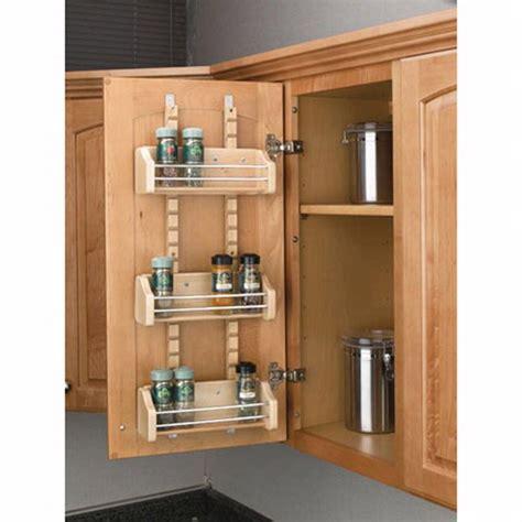 adjustable door mount spice racks rev  shelf asr series