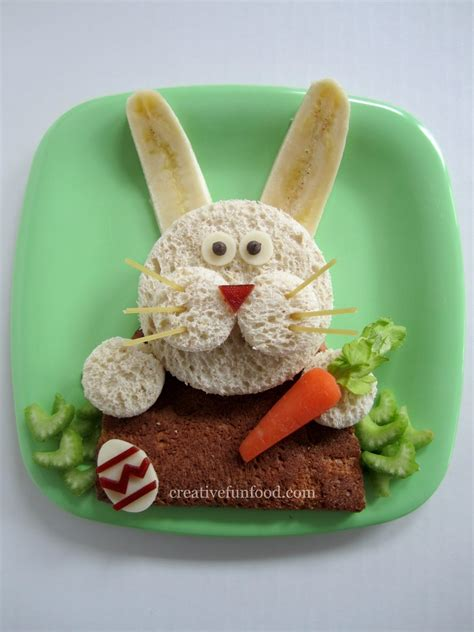 creation cuisine creative food easter bunny lunch and 20 creative