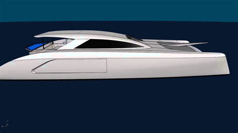 Catamaran Cad Design by G Force 1800 Cad Rendering Schionning Designs