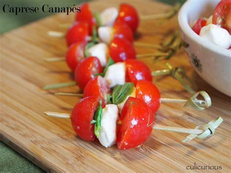 canapé simple caprese canapé recipe culicurious