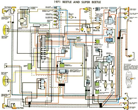 vw beetle wiring diagram pdf thesamba type 1 wiring diagrams