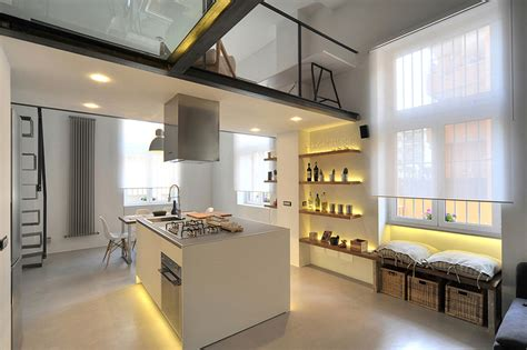 refurbished industrial loft apartment  rome idesignarch interior design architecture