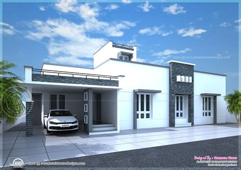 one floor house contemporary single floor home in 1350 sq ft kerala home design and floor plans