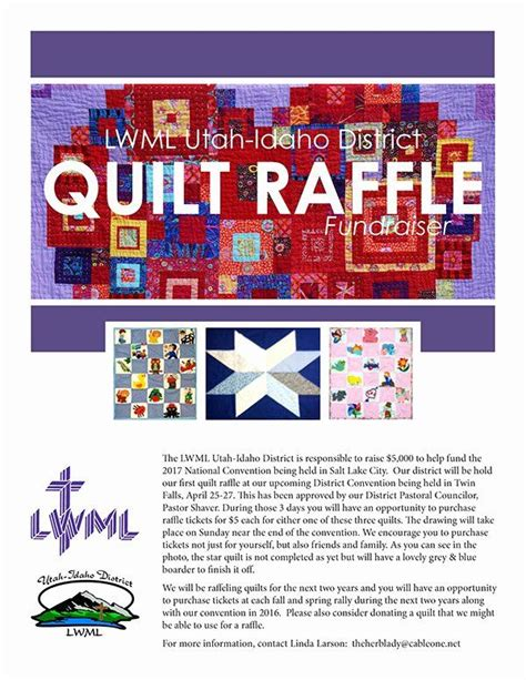 raffle flyer template  awesome quilt raffle flyer