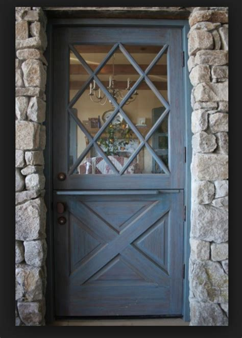 diamond pattern glass dutch door  favorite door  window design dutch door front