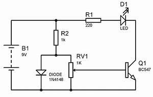 Temperature Detector Using Transistor Circuit Diagram