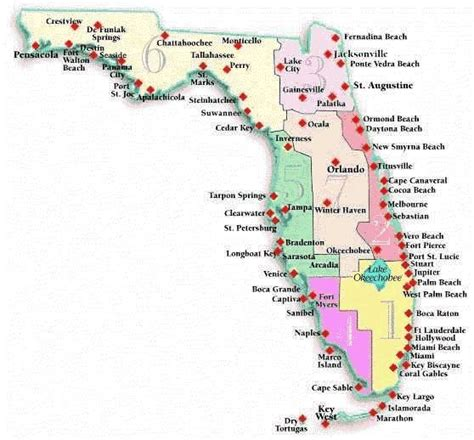 map  florida cities  beaches florida beach vacation