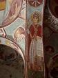 Byzantine woman in an unrestored fresco, Cappadocia ...