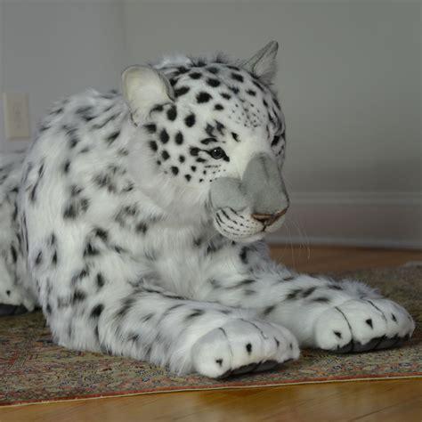 hansa plush snow leopard mama  cub