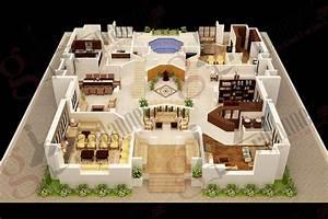 Bedroom Apartmenthouse Plans Pictures House Design 3d 6