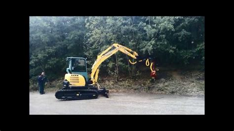 mini excavator universal vio  forestry attachment yanmar youtube