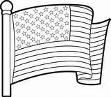 Flag Coloring American Printable sketch template