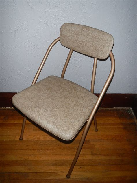 cosco folding chairs vintage vintage cosco folding chairs brown vinyl seats metal