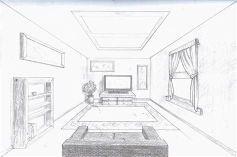 One Point Perspective Living Room Drawing : 17 Best Images About One Point Perspective On Pinterest