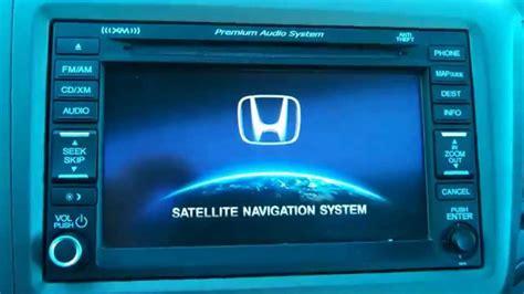 honda civic crv navigation reset clear navi