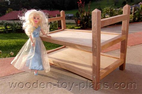 toy furniture plans  build  barbie bunk bed