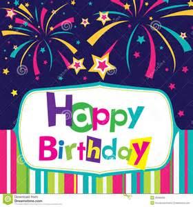 vector happy birthday card stock vector image of design 28486458