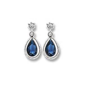 drop bridal earrings newbridge silverware drop earrings with clear and blue stones