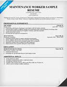 MAINTENANCE WORKER RESUME TEMPLATE Building Maintenance Resume Sample Resume Samples And 2016 Car Resume Maintenance Manager Resume Sample Picture Resume Template Maintenance Technician Resume Samples Templates And Tips Online
