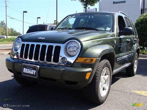 dark green jeep liberty 2006 jeep green metallic jeep liberty limited 4x4