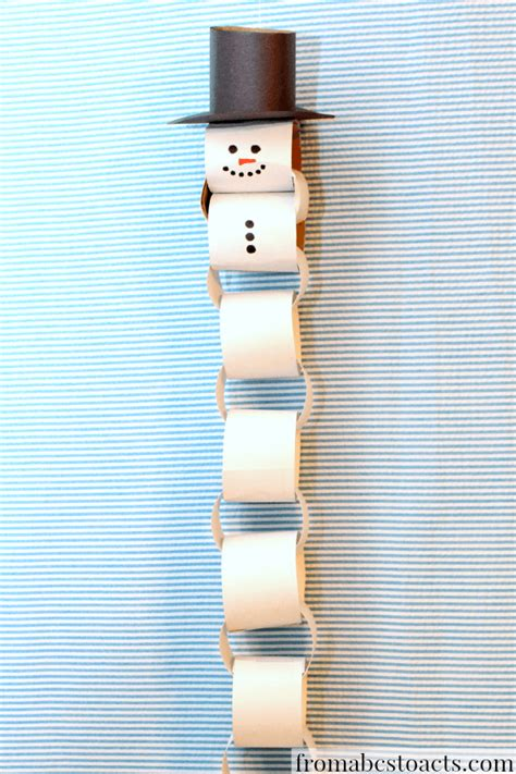 paper chain snowman christmas countdown  abcs  acts