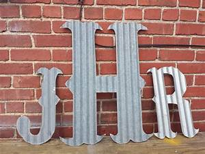 kansas barn tin letters large 24 marquee monogram With large tin letters