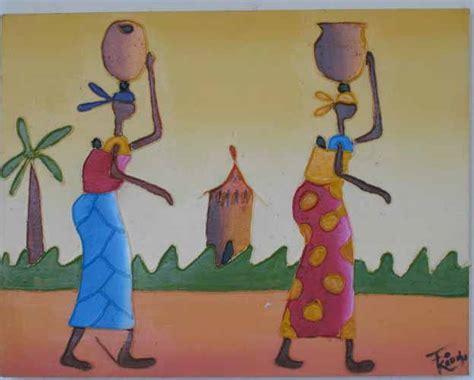 chaise africaine la peinture africaine dans l 39 africain